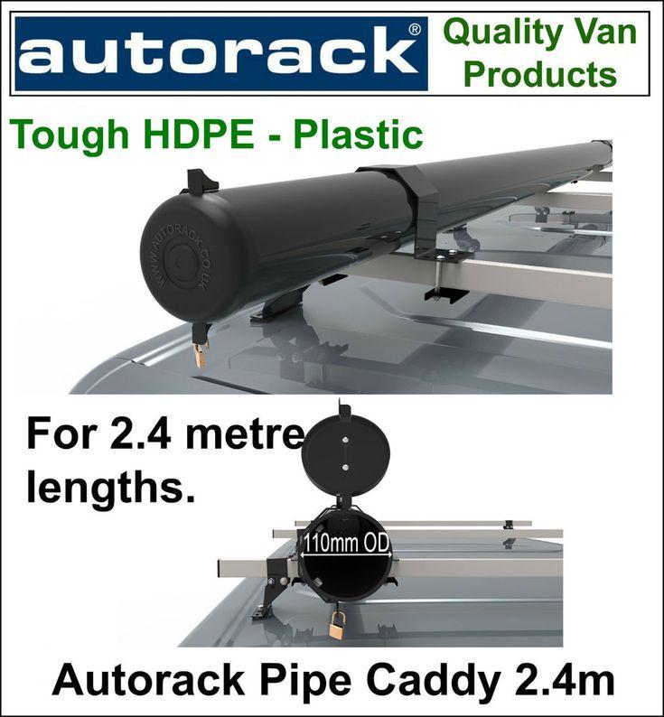 Autorack Pipe Caddy VAN PIPE TUBE CARRIER 2.4m Pipe Box for van roof rack bars #AUTORACK