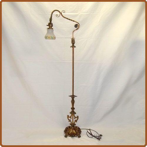1930 Art Deco Brass Floor Lamp