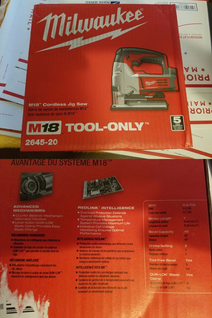 Jig and Scroll Saws 122834: New Milwaukee 2645-20 M18 Cordless Jig Saw (Tool Only) -> BUY IT NOW ONLY: $125 on eBay!