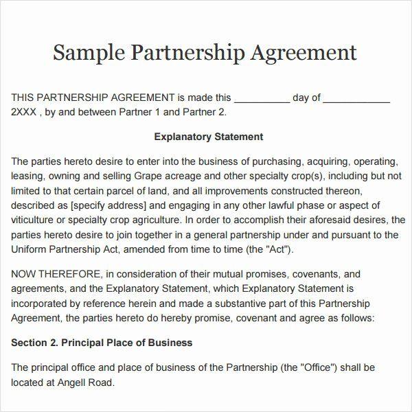 Simple Partnership Agreement Template Elegant Simple Partnership Agreement Template Free Uk Contract Template Donation Letter Template Microsoft Word Document