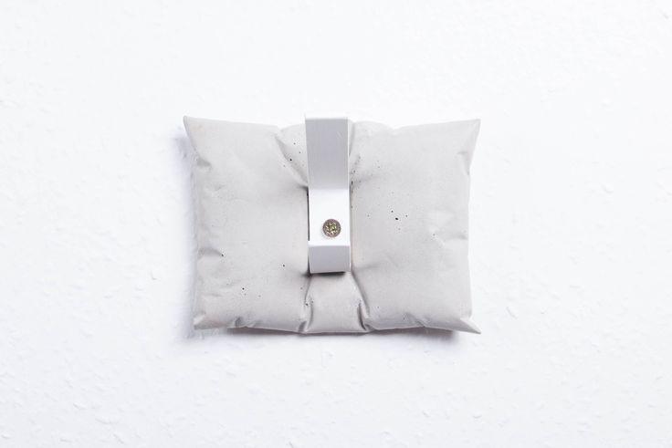 ABConcrete Design's concrete hanger #pillow #concrete