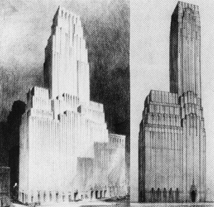 Irving Trust Building Also Went Througha Few Concept Sketches Find This Pin And More On Never Built Art Deco