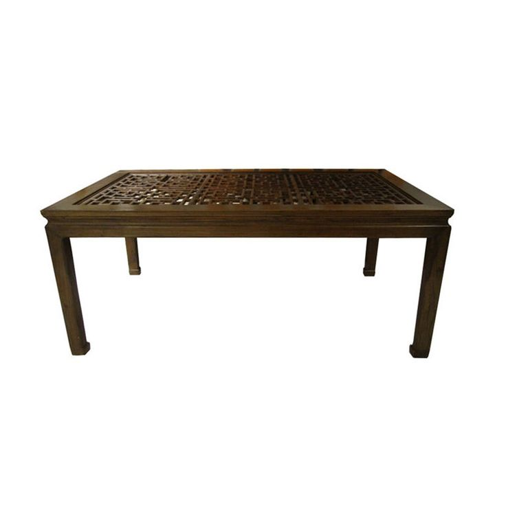 Vintage Asian Style Dining Table With Carved Top Part 68