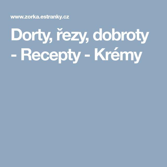 Dorty, řezy, dobroty - Recepty - Krémy