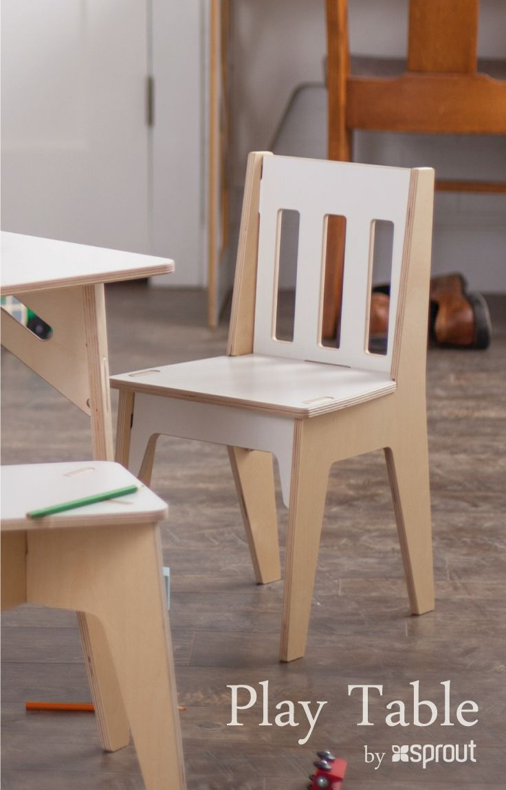 Bring Play Time To Life With This Classy Kids Wooden Table And Chair Set.  This