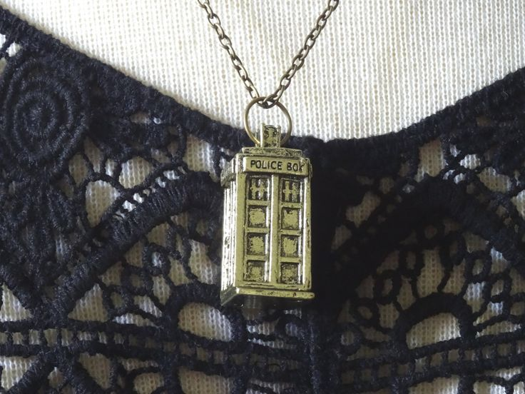 1- Phone Booth Necklace Dr Who Tardis Police Box Time Travel Gallifreyan Lord Halloween Pendant Tv Show Jewelry Doctor Who Necklace Inv0027 by PeculiarCollective on Etsy