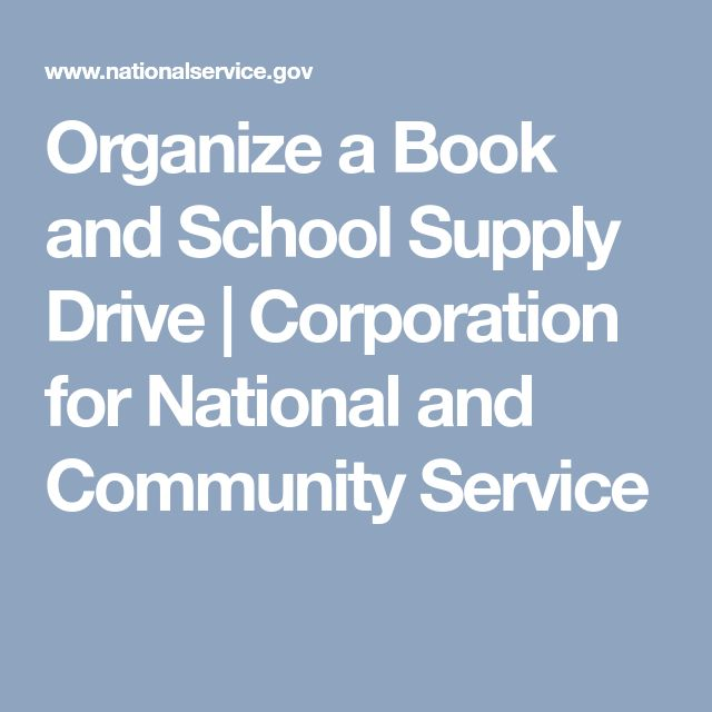 Organize a Book and School Supply Drive | Corporation for National and Community Service