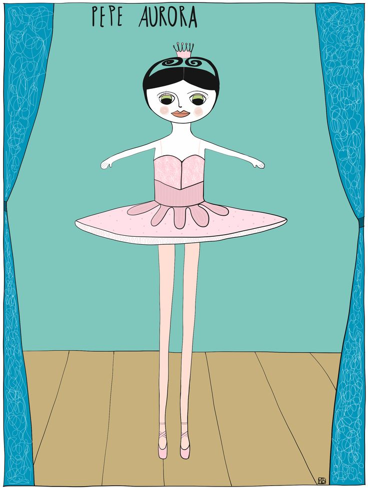 Illustration of Pepe #aurora #dancevariation from #thesleepingbeauty by Monica Brini