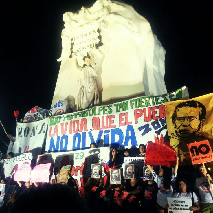 Hay golpes en la vida tan fuertes: 5 de abril, FujimoriNuncaMas