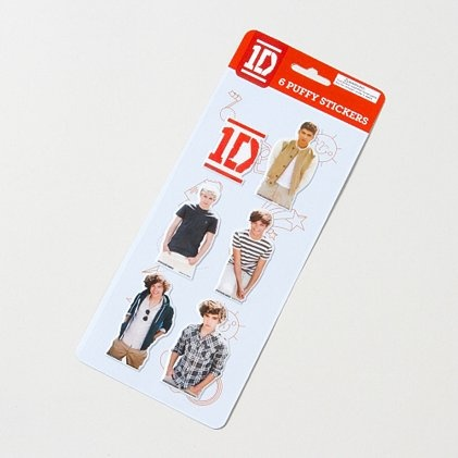 Boy oh boy! One Direction Puffy Stickers @Monique Otero Willis Yes....