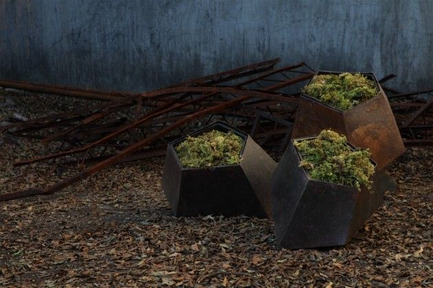 Filipino designer Jinggoy Buensuceso has created the Boulders collection of planters for HIVE.