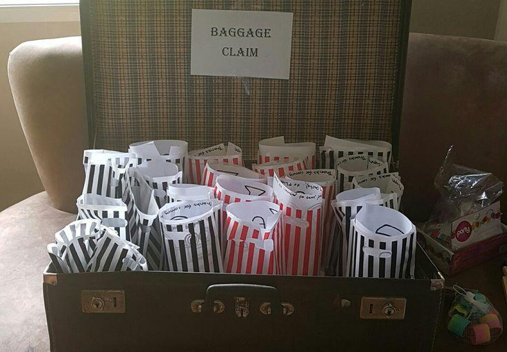 Baggage claim goodie bags
