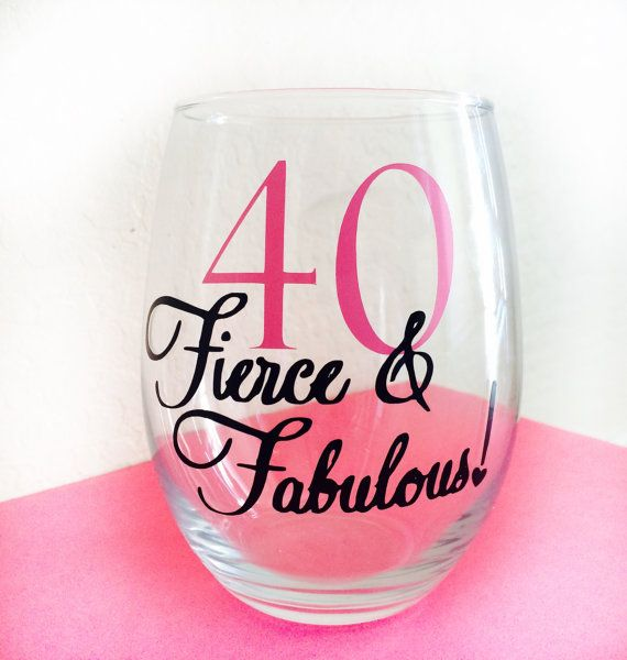 Personalized Fierce & Fabulous 40th Birthday Wine by CraftyAZChick