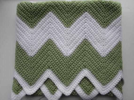 Crochet Afghan Pattern, Easy Chevron Crochet Blanket Pattern, Crochet Ripple, Crochet Zig Zag, Baby Blanket, Instructions make it ANY size!