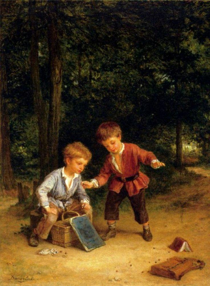 Unknow title. André Henri Dargelas (1828-1906), French painter.