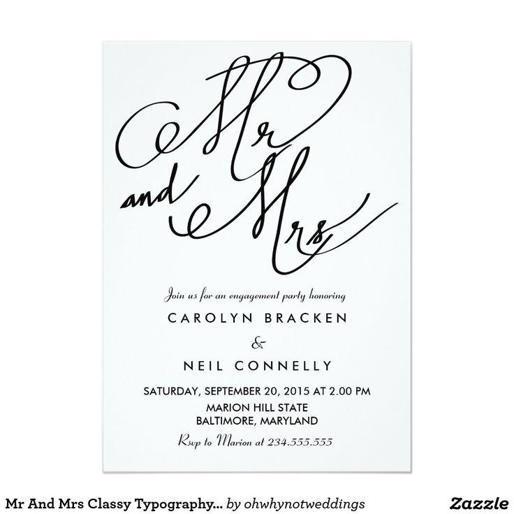 463 best MODERN WEDDING Invitations images on Pinterest | Engagement ...