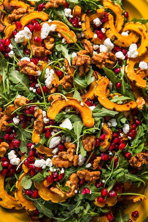 Roasted Delicata Squash Salad with Pomegranate | Dinner was Delicious