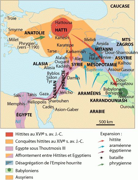 This is a map of the Ancient Near East. It shows where the Hittites, Egyptians, Babylonians & Assyrians were during the 16th-14th century BC.