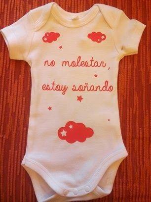 """FIELTROSITAS: BODY BEBE """"NO MOLESTAR, ESTOY SOÑANDO"""""""