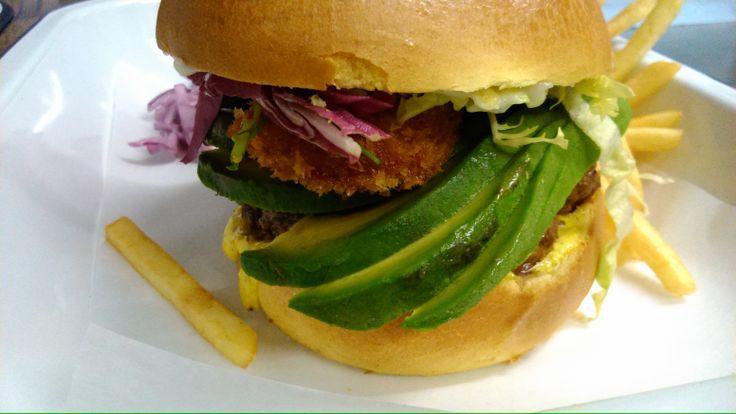 Gracies Surf & Turf burger.......sells itself!