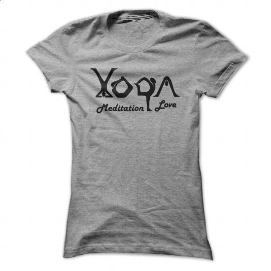 Meditation Love - Sport Grey - #tshirts #design shirts. CHECK PRICE => https://www.sunfrog.com/Fitness/Meditation-Love--Sport-Grey-Ladies.html?60505