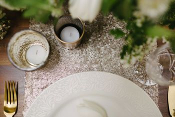 HIRE Champagne Sequin Table Runners ~ €20 Each