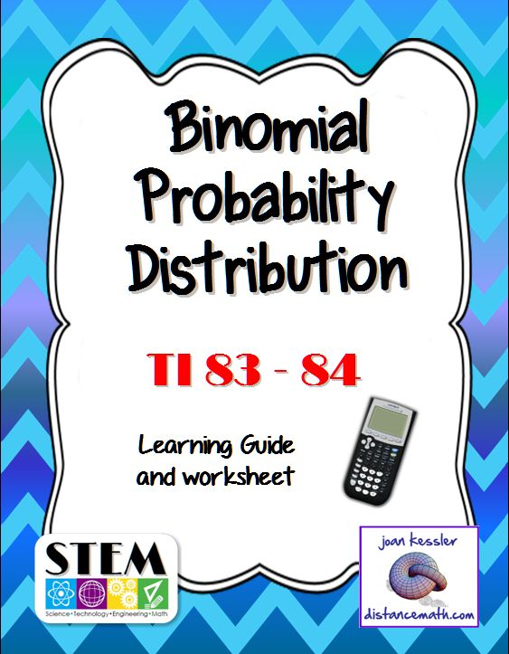 Easy to follow handout helps you teach your students how to to find Binomial Probabilities on the TI 83 Plus and TI 84 Plus Graphing Calculators. The handout is a concise 2 page guide with examples. Great to add to your students' notebooks. The bundle also includes a quiz / worksheet in multiple choice format with applications to the binomial probability distribution. This bundle is great for Honors Statistics, AP Statistics, or College level and Dual enrollment Statistics.