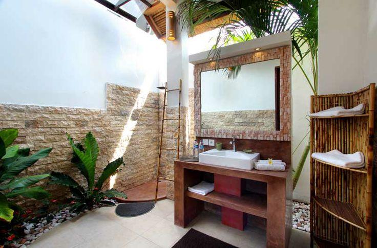 #Salledebain privé, de style #Balinais.