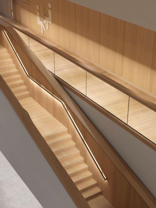 Design Museum - Dinesen Oak wooden stairs inside