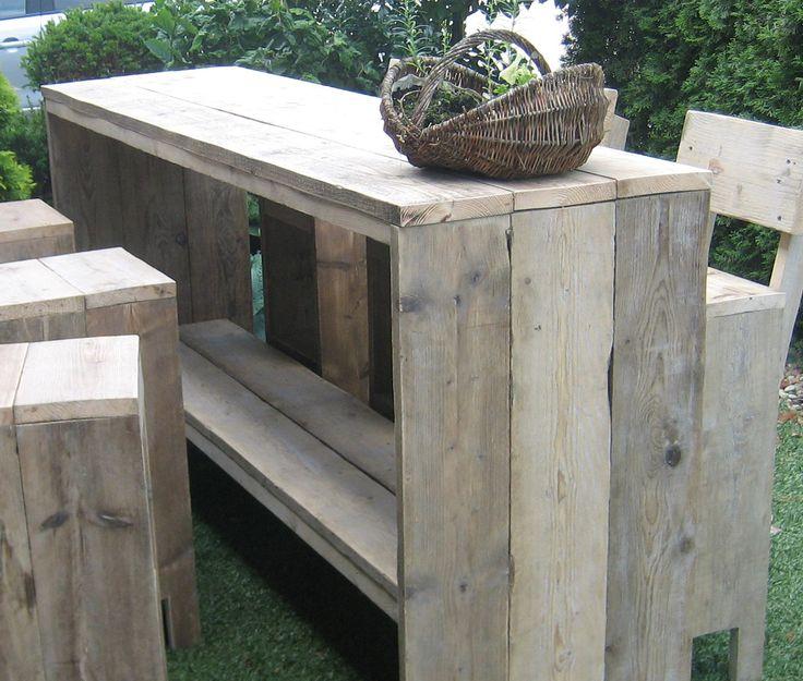 Bar-tafel van Steigerhout