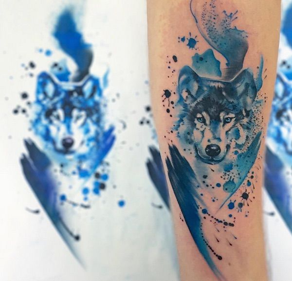25 best ideas about watercolor wolf tattoo on pinterest wolf print tattoo what is fading and. Black Bedroom Furniture Sets. Home Design Ideas