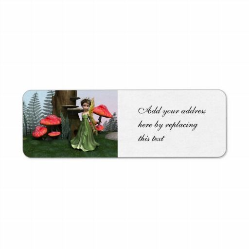 Fairy in Woodland Return Address Labels