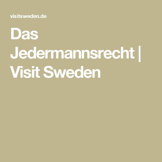 Das Jedermannsrecht   Visit Sweden