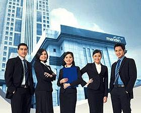 Bank Mandiri Bank Terbaik di Indonesia sebagai bank terpercaya untuk transaksi online menggunakan sms & internet banking, mandiri clickpay bersama Bank Mandiri.