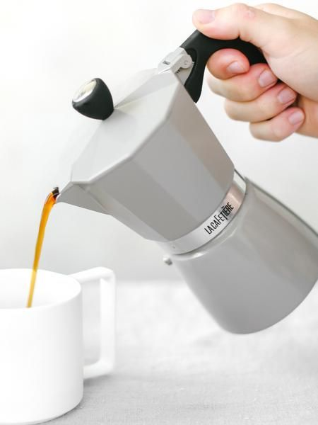 Our double serving, high quality aluminum stovetop moka pot brews our tea blends the same way we brew in store! The moka pot is compact, easy to use making 12oz of concentrated Teaspressa tea shots an