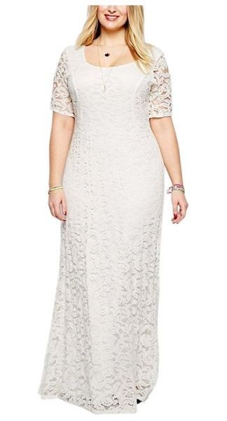 6 stylish plus size after wedding dress ideas