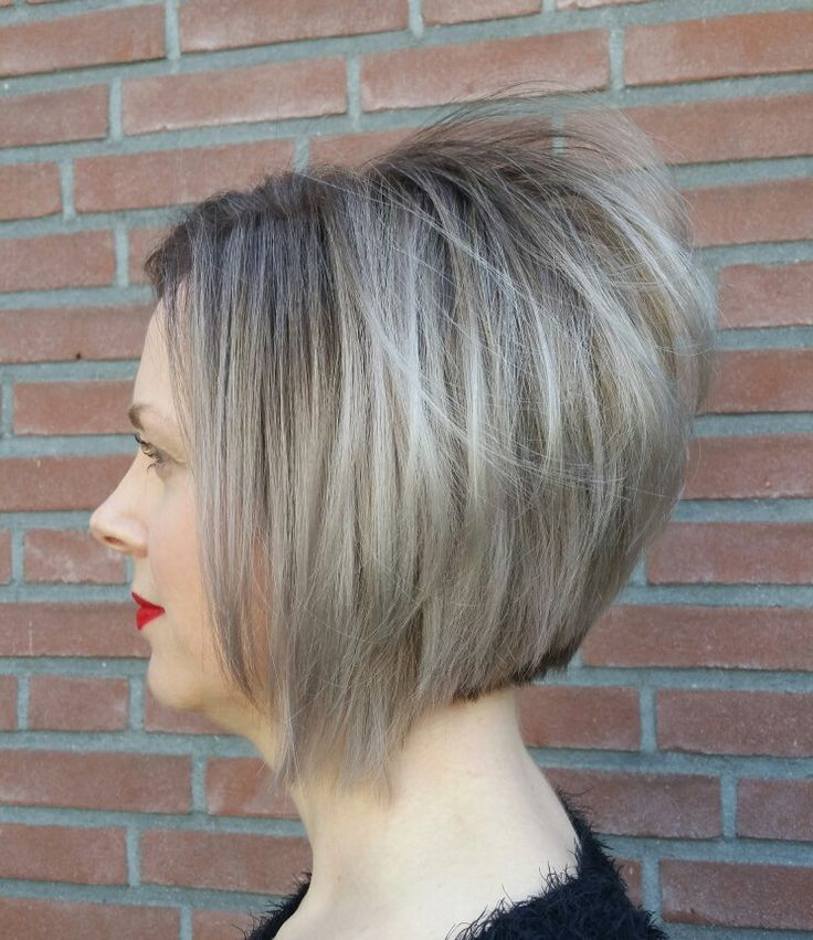 Ashy bob haircut made by @trulyjessy -salon du trezo