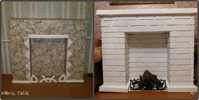 Так как мне разонравился старый камин я решила сделать новый и вот что из этого вышло... фото 1