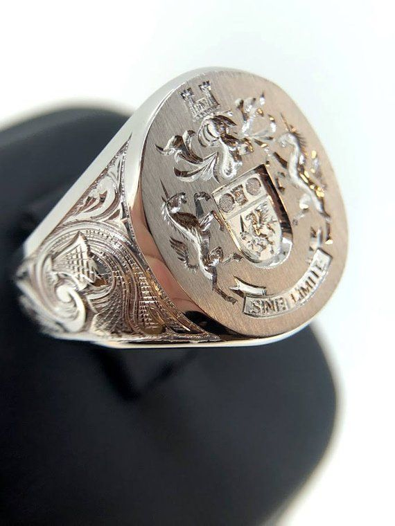 99c0257c84c5c White Gold Signet Ring, 25% Off Signet Ring, Mens Custom Gold Signet ...