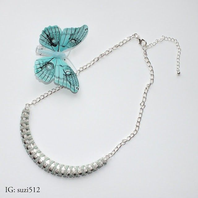 Mint-silver necklace