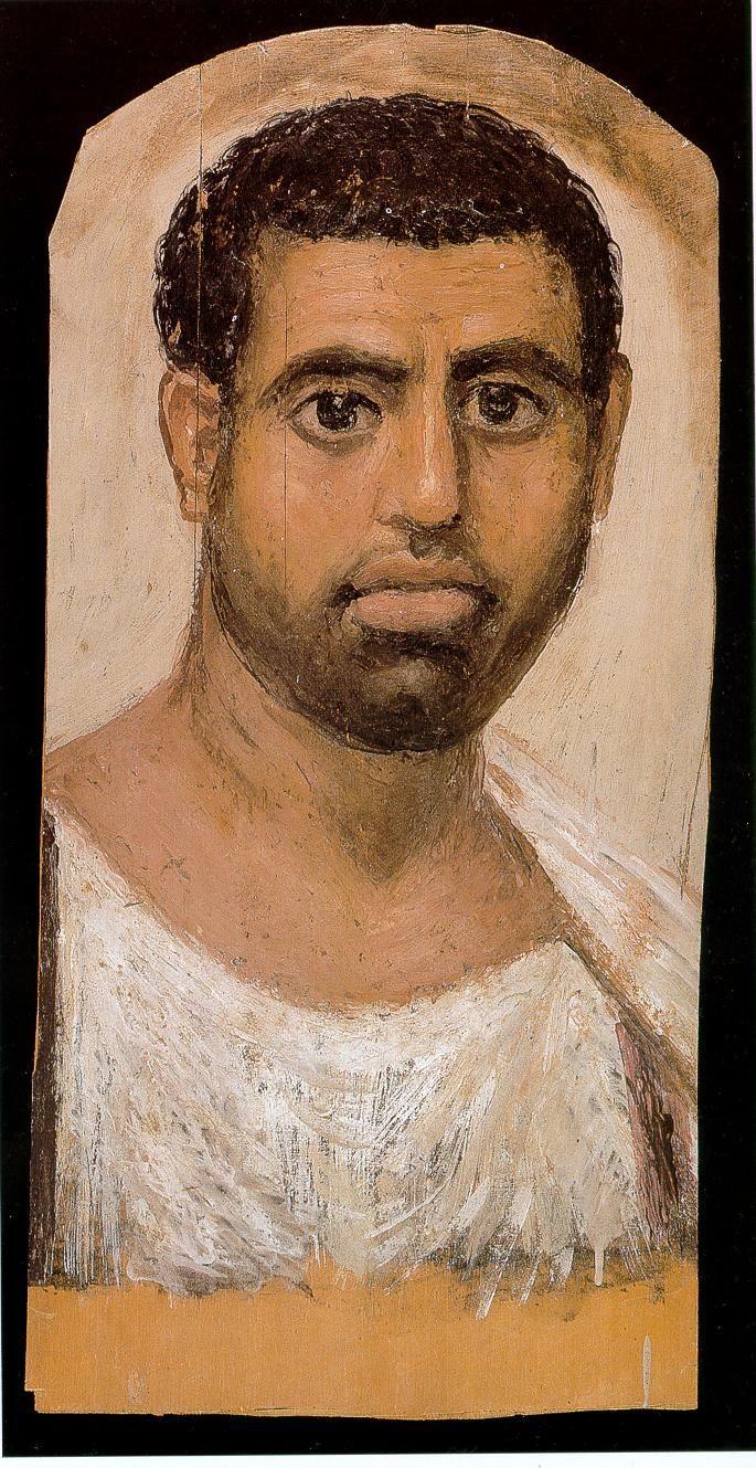Mummy Portrait of a Woman with Earrings, Roman Egypt