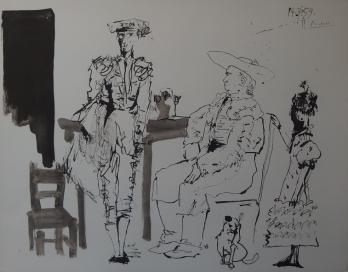 Pablo PICASSO : Avant la corrida, Lithographie signée 1960 1