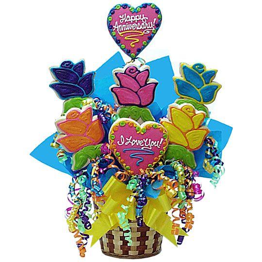 Anniversary Flowers Basket