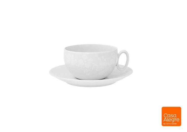 """Relevo Flores"" | Breakfast Cup & Saucer"