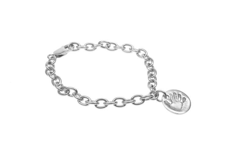 High Five Circle Charm on Cable Bracelet by Smallprint. www.smallprint.co.za