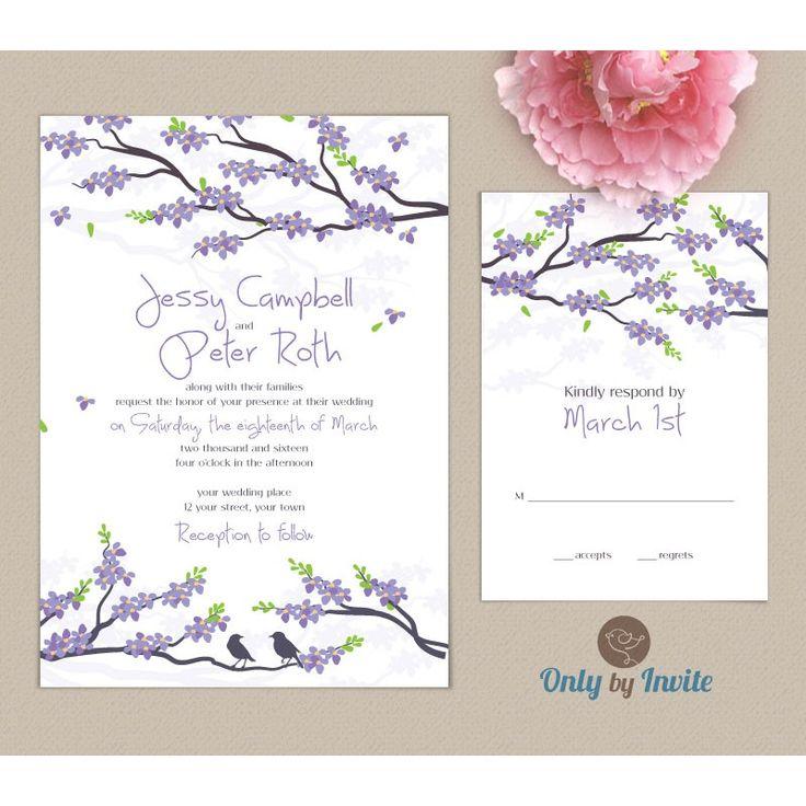22 best Wedding invitation and RSVP card pack images on Pinterest ...