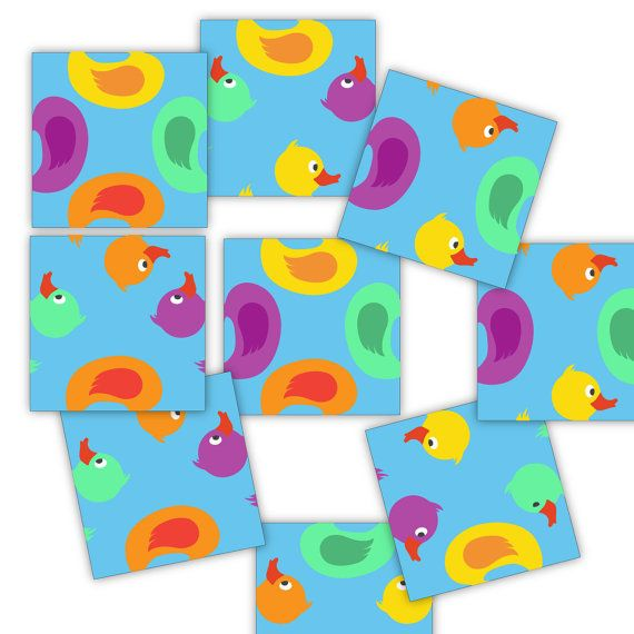 Crazy Duck Puzzle  Very Easy Level  Retro 9 by paper4download