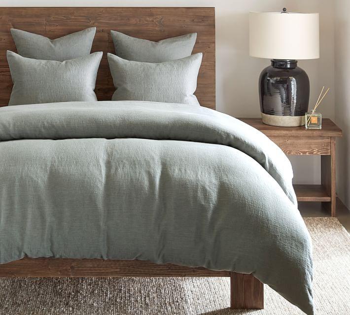 Willow Linen Cotton Twill Duvet Cover Duvet Covers Blue Duvet Cover Duvet