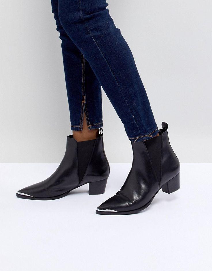Office - Azalea - Stiefel im Western-Stil aus schwarzem Leder - Schwarz  Jetzt bestellen unter: https://mode.ladendirekt.de/damen/schuhe/stiefel/sonstige-  ...