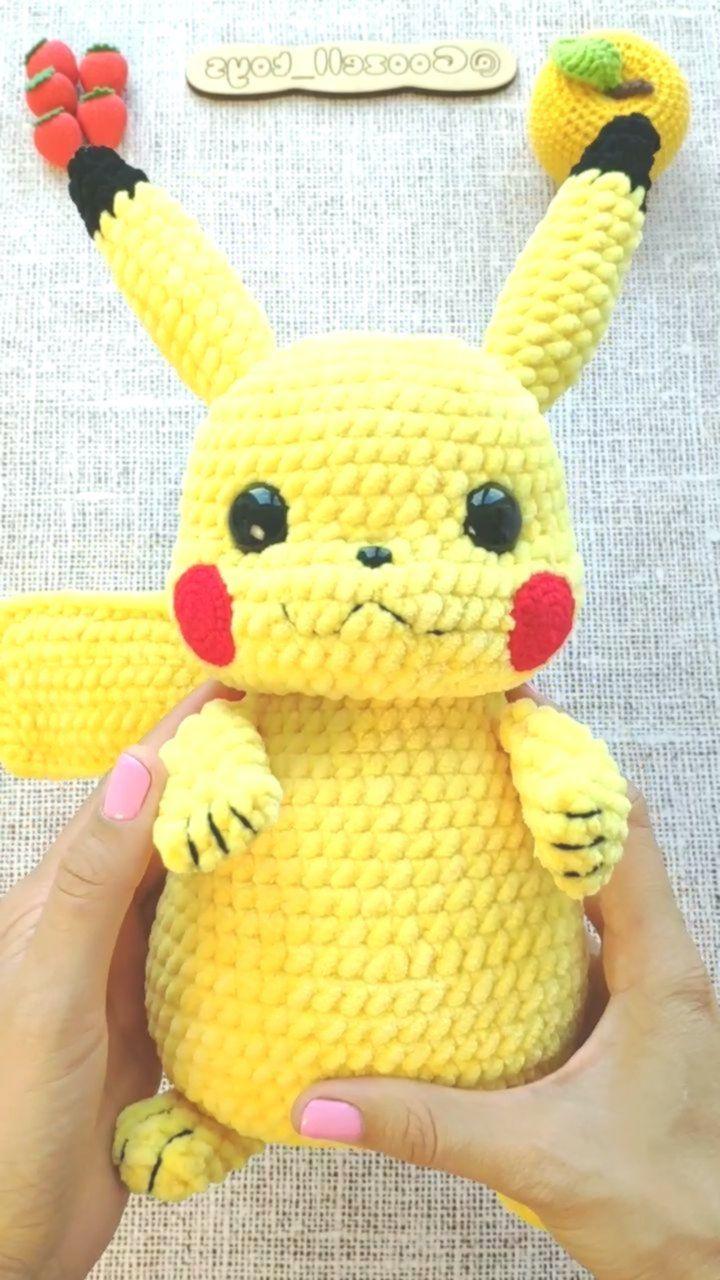 PIKACHU CROCHET PATTERN - Pokemon Amigurumi Pdf-Muster - Pokemon ... | 1280x720